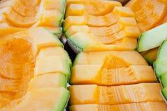 Cantaloupe or Charentais melon (Other names are Melon, cantelope Stock Image