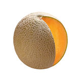 Cantaloupe (with clipping path). Cantaloupe isolated on white with a clipping path. Isolation is on a transparent layer in the PNG format royalty free stock photos