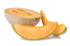 Cantaloupe cortado   fotografia de stock royalty free