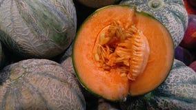 Cantaloupe cortado Foto de Stock Royalty Free