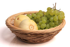 Cantaloupe and grapes Royalty Free Stock Images