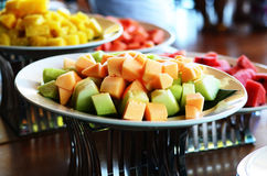 Cantaloupe healthy  on a plate in Thailand Royalty Free Stock Photo