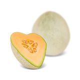 Cantaloupe heart Royalty Free Stock Images