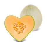 Cantaloupe heart Royalty Free Stock Image