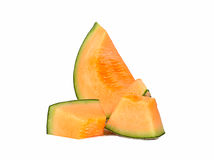 Cantaloupe isolado no fundo branco Imagem de Stock Royalty Free