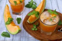 Cantaloupe Juice Royalty Free Stock Photos