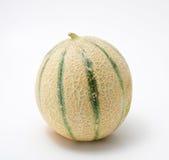 Cantaloupe melon. On white background Royalty Free Stock Images