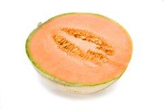 Cantaloupe melon. On white background Stock Images