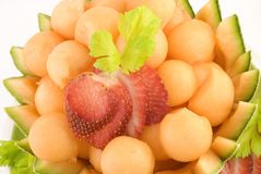 Cantaloupe Melon Balls Royalty Free Stock Photography
