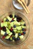Cantaloupe Melon and Berry Fruit Salad Stock Photos