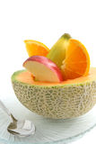 Cantaloupe melon  filled with fruit Royalty Free Stock Images