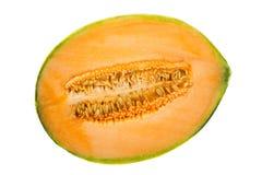 Cantaloupe melon half Royalty Free Stock Photos