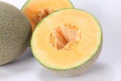Cantaloupe melon Hami melon. Cantaloupe melon isolated on white background.Hami melon royalty free stock image