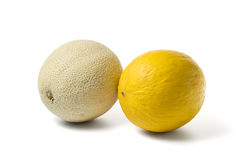 Cantaloupe melon and honeymelon Stock Photo