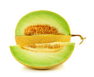Cantaloupe melon isolated on the white background Stock Image