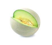 Cantaloupe melon isolated on white background Stock Image