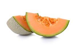 Cantaloupe melon isolated on white background Royalty Free Stock Image