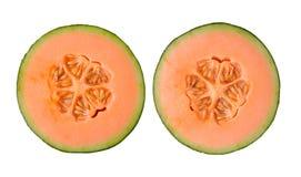 Cantaloupe melon isolated on white background Royalty Free Stock Photos