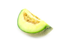 Cantaloupe melon. Isolated on white clipping path Stock Photography