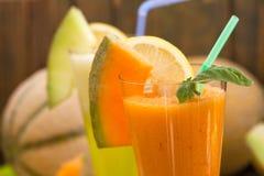 Cantaloupe melon juice Royalty Free Stock Photography