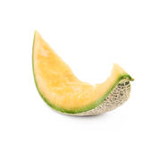 Cantaloupe melon rind isolated. Over the white background royalty free stock photos