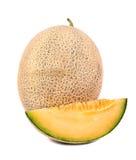 Cantaloupe melon with slice Royalty Free Stock Photo