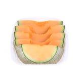 Cantaloupe melon slice isolated Royalty Free Stock Photography