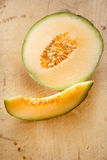 Cantaloupe melon slice and one half Stock Photography