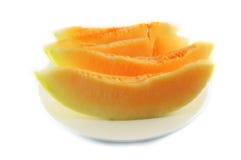 Cantaloupe melon Sliced Stock Photo