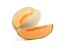 Cantaloupe melon slices Royalty Free Stock Photography