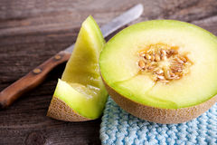 Cantaloupe melon slices Royalty Free Stock Image