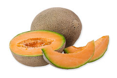 Cantaloupe melon Stock Photos
