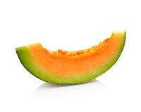 Cantaloupe melon slices Stock Images