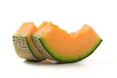 Cantaloupe melon slices Stock Photos
