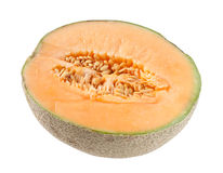Cantaloupe Melon On White Royalty Free Stock Photography