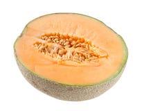Cantaloupe Melon On White Royalty Free Stock Photography