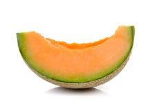 Cantaloupe melon  on white background Stock Image