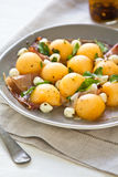 Cantaloupe,Mozzarella and Prosciutto Antipasti Stock Photography