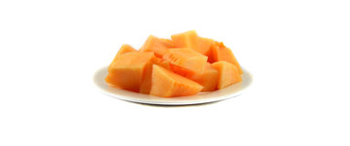 Cantaloupe on the plate Royalty Free Stock Photography