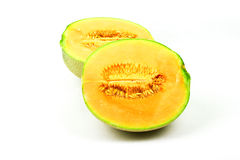 Cantaloupe or rock melon Stock Photos