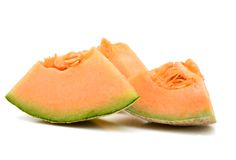 Cantaloupe slices Royalty Free Stock Images