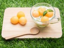 Cantaloupe tapioca Stock Image