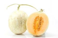 Cantaloupe on white background Royalty Free Stock Photos