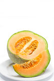 Cantaloupe on white background Stock Photography