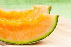 Cantaloupemelon Arkivbild