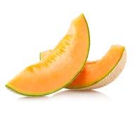 cantaloupemelonskivor royaltyfri bild