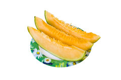 Cantaloupes slices Royalty Free Stock Image