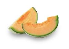 Cantaloupmelonmelonskivor Royaltyfri Fotografi