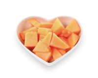Cantaloupmelonmelonskivor Arkivfoton