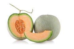 Cantaloupmelonmelonskivor Arkivbilder